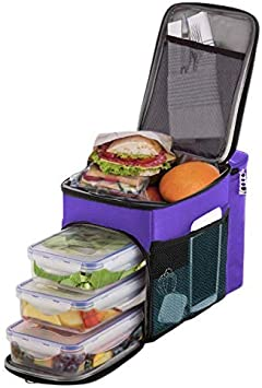 Insulated Lunch Bag Portable Thermos Cooler Hot Cold Tote Food Boxes RE