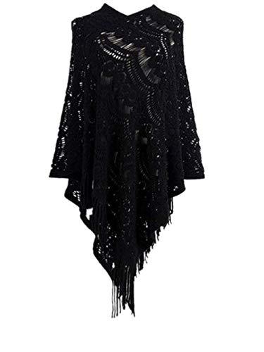 Maglioni Nero Larghi Grande Fuweiencore Elegante Donna Invernali Lunghi Scialle 4dxw1q8