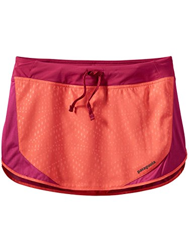 Falda Running Strider Skirt - Mujer Friction Geo : Carve Coral
