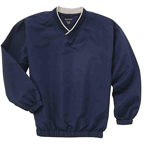 Rivers' End Mens Unlined Microfiber Windshirt Athletic Pullover Navy - Windshirt Microfiber