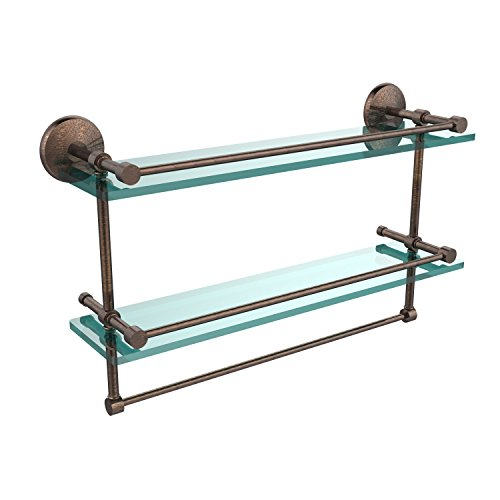 Review Allied Brass MC-2TB/22-GAL-VB 22-Inch Gallery Double Glass Shelf with Towel By Allied Precision Industries by Allied Precision Industries