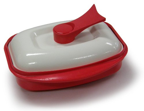 Microhearth Grill Pan for Microwave Cooking, Red (Best Way To Reheat French Fries In Microwave)