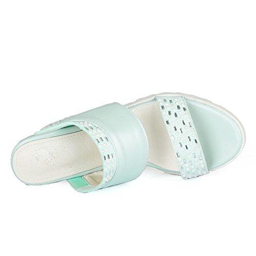 Palabra Pendiente Con Y Moda Zhznvx 39 De Zapatillas Verde Sandalias Mujer pHdZwxTq