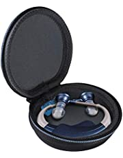 TUDIA Hard EVA Case for Hearing Aids, Compatible with Britzgo Digital Hearing Aid Amplifier, MEDca Behind The Ear Sound Amplifier [CASE ONLY]