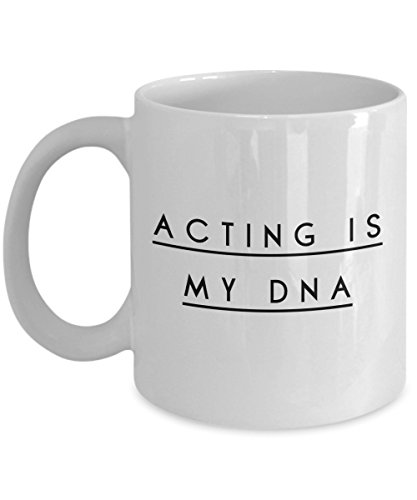 Omega Necklace Personalized (Acting Is My Dna, 11Oz Coffee Mug Best Inspirational Gifts and Sarcasm Perfect Birthday Gifts for Men or Women/Birthday/Christmas Present)