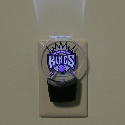 fan products of Authentic Street Signs NBA Officially Licensed-LED NIGHT LIGHT-Super Energy Efficient-Prime Power Saving 0.5 watt-Plug In-Great Sports Fan gift for Adults-Babies-Kids Room (Sacramento Kings)