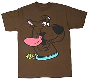 Scooby Face - Scooby Doo Boys T-shirt: Juvenile 7 - Brown