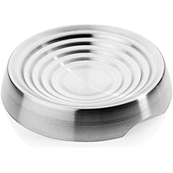 CatGuru New Premium Whisker Stress Free Cat Food Bowl, Reliefs Whisker Fatigue, Wide Cat Dish, Non Slip Cat Feeding Bowls, Shallow Cat Food Bowls, Non Skid Pet Bowls for Cats (Round, Stainless Steel)
