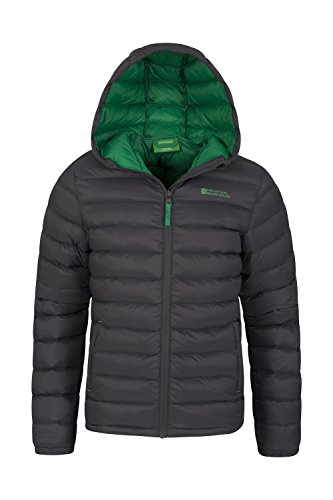 Pockets Travelling Jacket Kids Cuffs Padded Coat Lightweight Elastic Resistant Seasons 2 Casual Grey amp; Rain Boys Summer Jacket Mountain Warehouse Jacket Water Front for 7BSUwU