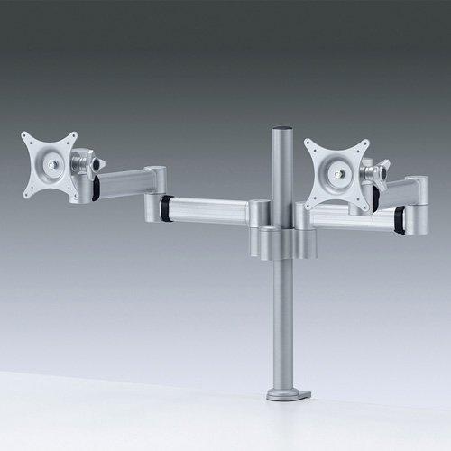 [해외]산와 서플라이 액정 이중 모니터 암 (24 형까지 대응 ? 수평 다 관절2 면클램프 식) CR-LA902N / SANWA Supply LCD dual monitor arm (up to 24 types, horizontal, articulated, 2-sided, clamp type) CR-LA902N