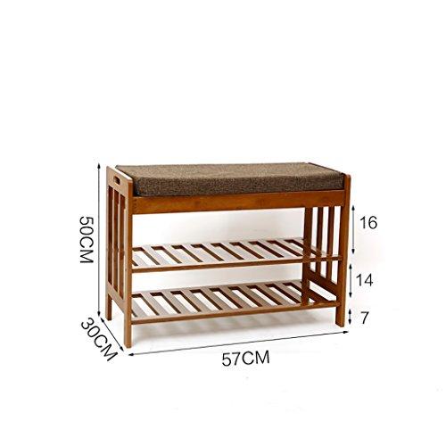 Natürliche Bambus für den Schuh Hocker einfache Sofa Hocker Haushalt Stuhl Hocker Nanzhu Schuhschrank (größe : 57cm)