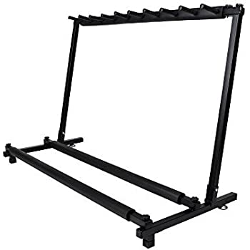 TMS Guitar Stand 9 Holder Folding Rack Band Stage Bass Acoustic