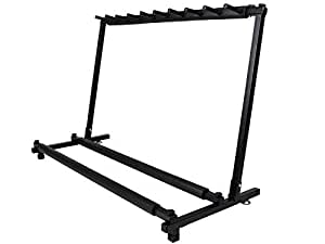 tms guitar stand 9 holder guitar folding stand rack band stage bass acoustic guitar. Black Bedroom Furniture Sets. Home Design Ideas