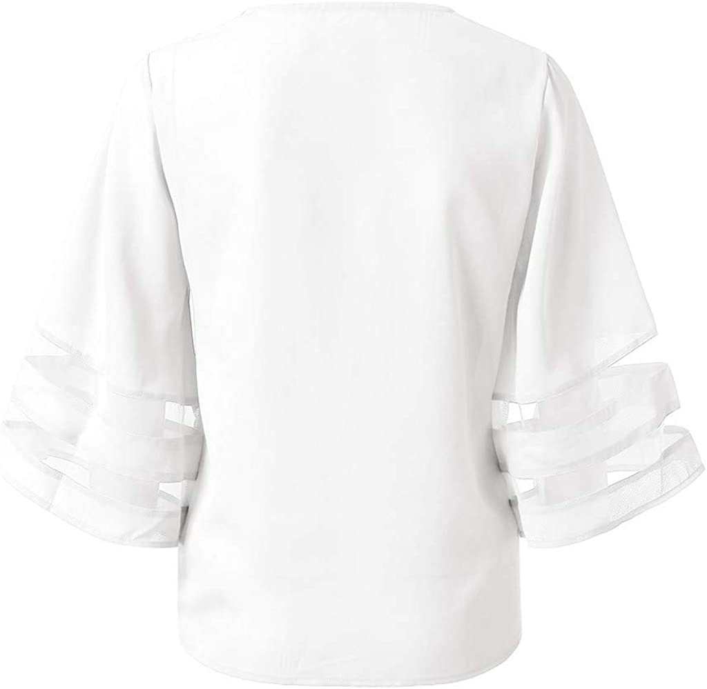 Amlaiworld Fashion Women Tee Tops Leisure T Shirt Short Sleeve Solid Buttons Shirt Summer V-Neck Tops