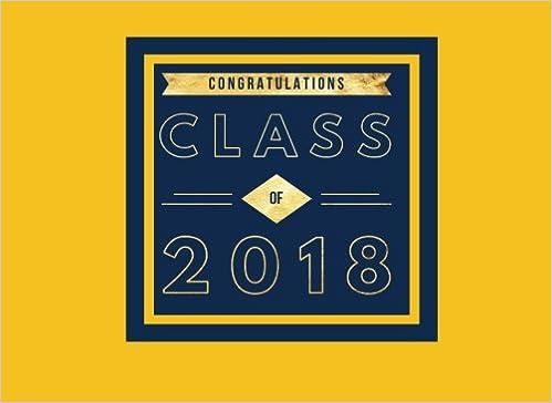Amazon com: Congratulations Class Of 2018: Yellow & Navy Guest