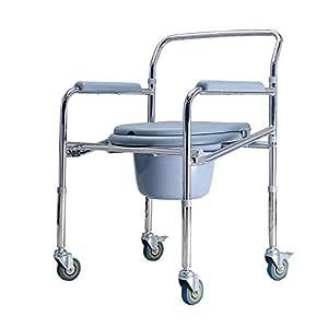 Asiento de inodoro con ruedas, asiento de inodoro antideslizante ...