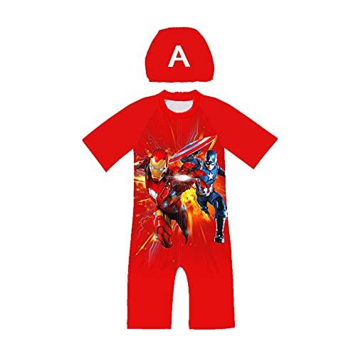 Avenger Cosplay Jongen Spiderman Badpak Zomer Strand Zwemmen Kostuum Kid Shorts Mouwen Wetsuit Uv-bescherming Rash Guard…