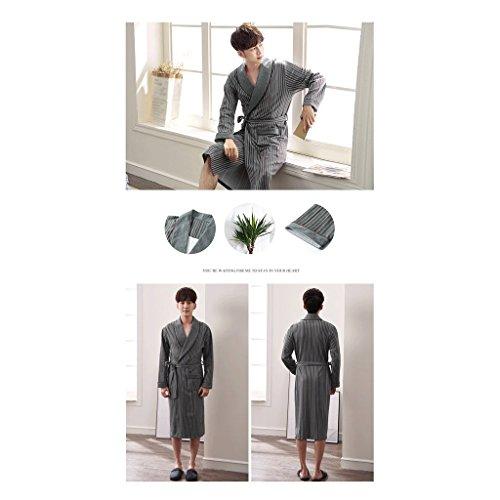 Lungo Gaolili Pigiama Autunno Manica Cotton Uomo Sleep Robe Clothes Medio Pure D Home Accappatoi Lunga Sezione Pdzw5d