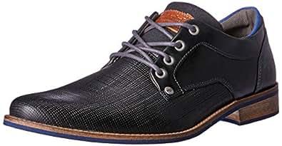 Wild Rhino Men's Manly Oxford Shoes, Black, 7 AU (41 EU)