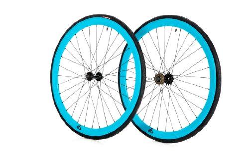 Retrospec Bicycles Super Deep-V Wheels with CST Tires (Aqua, 700C x 23)
