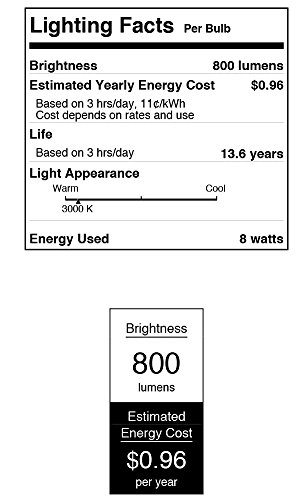Westinghouse Lighting 3319920 60-Watt Equivalent T7 Bright White LED Light Bulb with Medium Base (4-Pack), 4 Piece