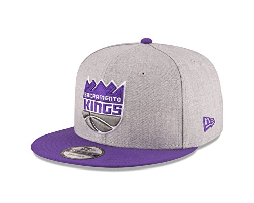 New Era NBA Sacramento Kings Adult Men NBA 9Fifty 2Tone Heather Snapback Cap,OSFA,Heather Gray