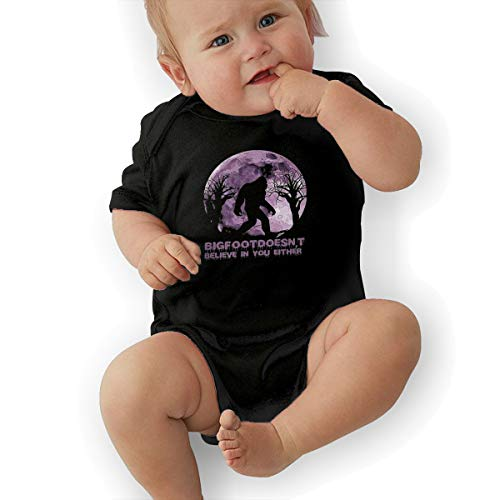 Baby Clothes, Funny Sasquatch Bigfoot Doesn't Believe in You Either Baby Girls' Cotton Bodysuit Baby Clothes Black]()