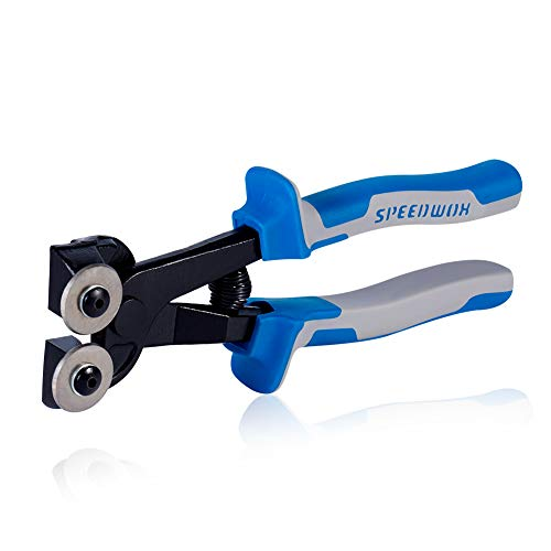 SPEEDWOX Glass Tile Nipper 8 Inch High Strength Tungsten Carbide Scoring Wheels for Quickly Cutting Porcelain Mosaic Ceramic Mirror Professional Glass Cutters Score Tile Working Tool Heavy Duty