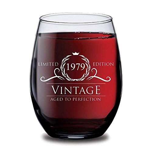 1979 40th Birthday Gifts For Women And Men Wine Glass