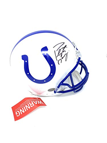 - Peyton Manning Indianapolis Colts Signed Autograph Throwback Full Size Proline Authentic Helmet Steiner Sports Certified