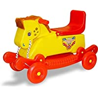 Banshika Toys Mongolian Horse Baby Rider 2 in 1 Rocker Cum Riders for 2 Years Kids (Color May Very)