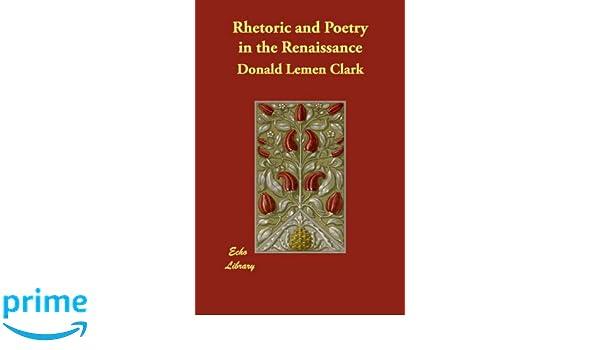 rhetoric poetry