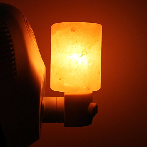 Syntus HM065 Himalayan Lamp Natural Crystal Salt Glow Hand Carved Night Wall, UL Listed Plug for Lighting, Decoration and Air Purifying, Yellow