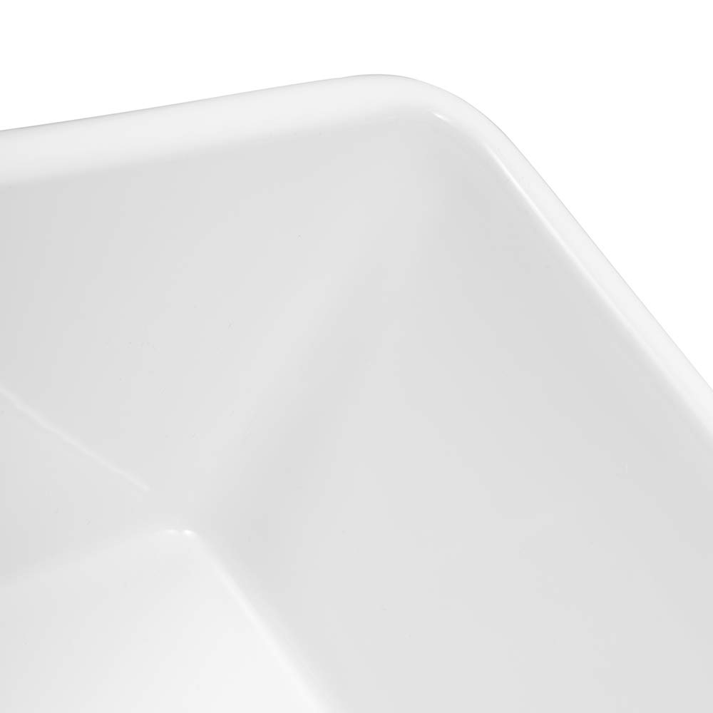 Sarlai 30'' Farmhouse Kitchen Sink White Porcelain Vitreous, SUC3018R1 Fireclay Single Bowl Kitchen Sink by Sarlai (Image #8)