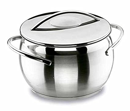 Lacor - 79124 - Olla con Tapa Belly 24 cm. Inox