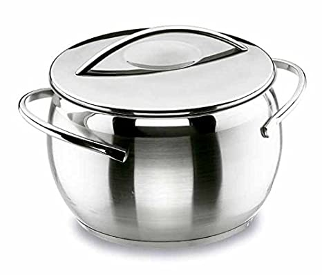 Lacor - 79120 - Olla con Tapa Belly 20 cm. Inox: Amazon.es: Hogar