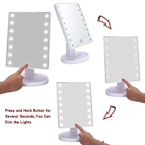 Led Makeup Mirror Megpo Rotatable Lighted Vanity Mirror