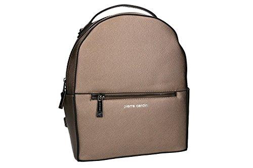 Tasche damen rucksack schulter PIERRE CARDIN bronze mit offnung zip VN986