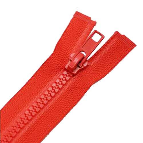 HJ 修理 ジッパー ファスナー チャック ジッパー カラフル 縫製用 手芸材料素材 ズボン ジーンズ ポーチ 20本入 赤 (62CM)