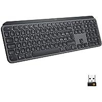 Logitech Mx Keys Tastiera Wireless Avanzata con Illuminazione, Digitazione Reattiva, Bluetooth, USB-C, Apple,macOS, Microsoft Windows, Linux, IOS, Android,Layout Italiano QWERTY, Graphite