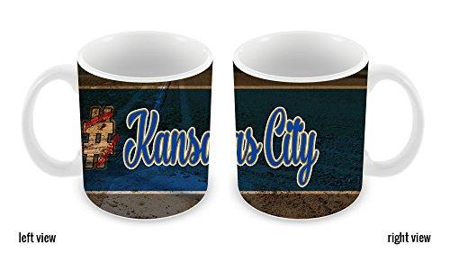 BleuReign(TM) Hashtag Kansas City #KansasCity Baseball Team 11oz Ceramic Coffee Mug