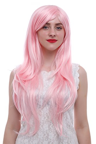 Nuoqi Womens Long Pink Fluttershy Costumes Straight Cosplay Wig ()