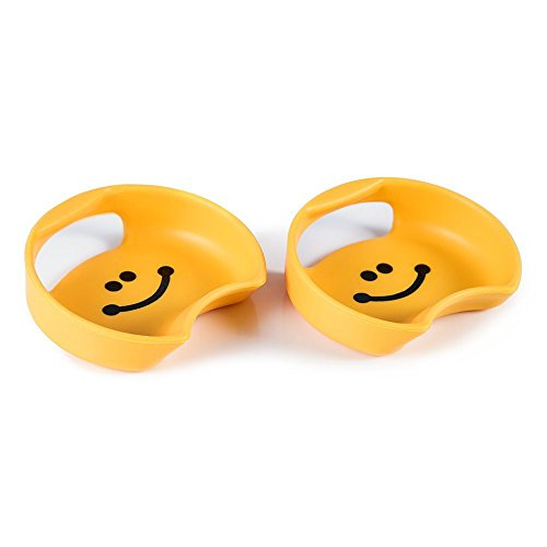 MIU COLOR- Guyot Design SplashGuard-Universal for Wide Mouth Bottles, 2-pack, Smile Yellow