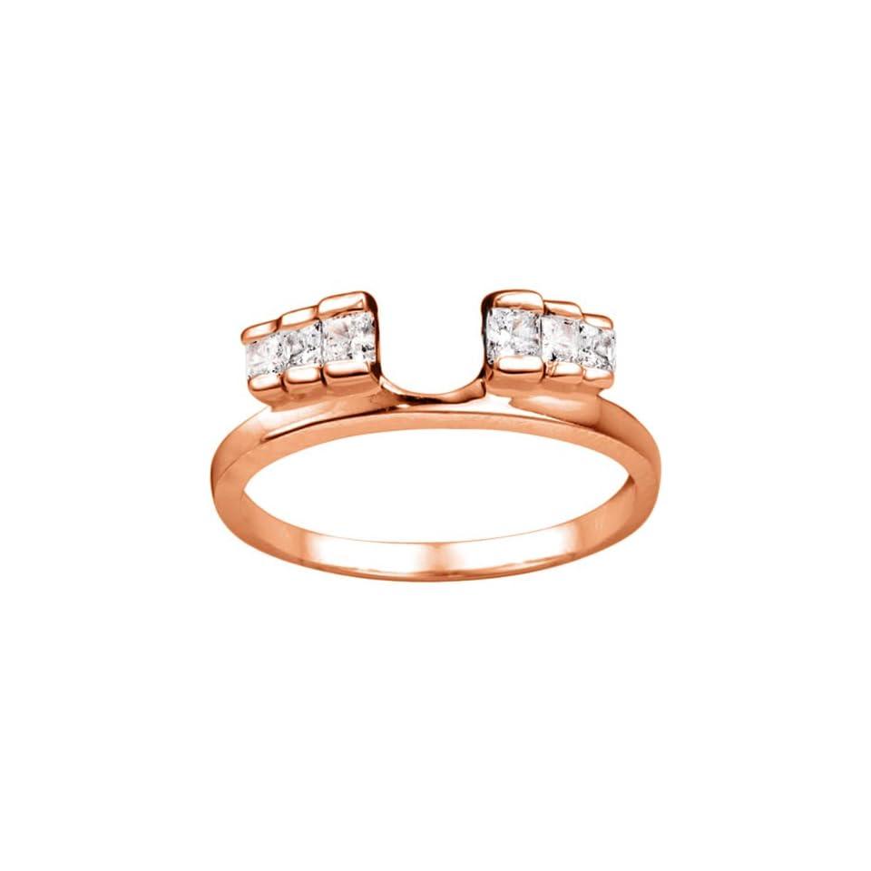 10k Yellow Gold Ring Wrap Enhancer (0.3 crt. Cubic Zirconia). Jewelry