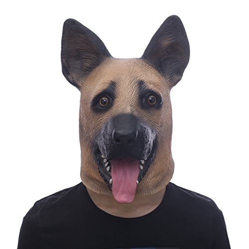 Halloween Novelty Individuality Molezu Costume Party Latex Police Dog Animal Mask - Party Police Costumes