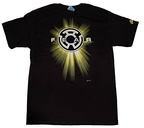 (Officially Licensed DC Comics Fear Yellow Lantern T-Shirt, L)