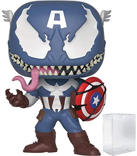 Funko Pop! Marvel: Venom - Venomized Captain America Vinyl Figure (Includes Pop Box Protector Case)