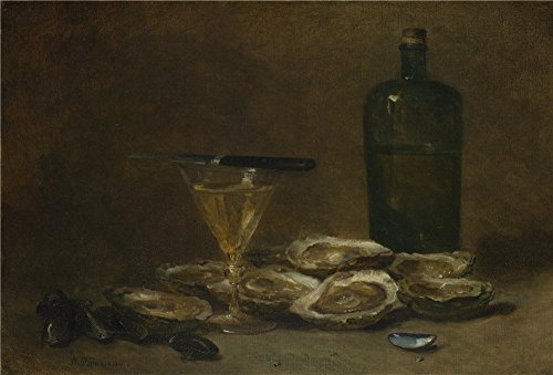 The High Quality Polyster Canvas Of Oil Painting 'Philippe Rousseau Still Life With Oysters ' ,size: 30 X 44 Inch / 76 X 113 Cm ,this High Resolution Art Decorative Canvas Prints Is Fit For Wall Art Gallery Art And Home Gallery Art And Gifts ()