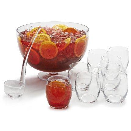 Sur la table 10 piece punch bowl set fa620004 clear home for 10 piece kitchen table set
