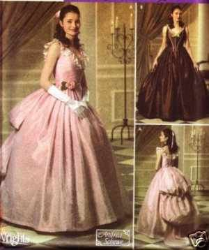 Simplicity 4479 sewing pattern Phantom of the Opera 1800s Era Misses Costume Gowns makes sizes 14, 16, 18, 20 Out of Print Rare - Out Of Print Costume Patterns